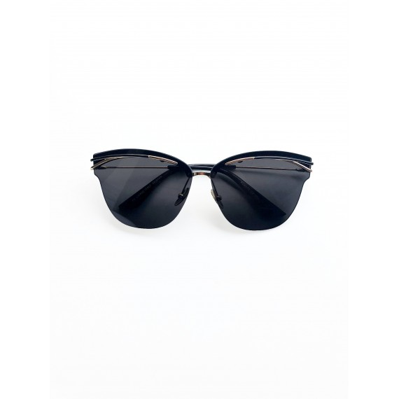 Óculos Escuro Preto (sem armação frontal) -  Lente Preta  com Proteção UV