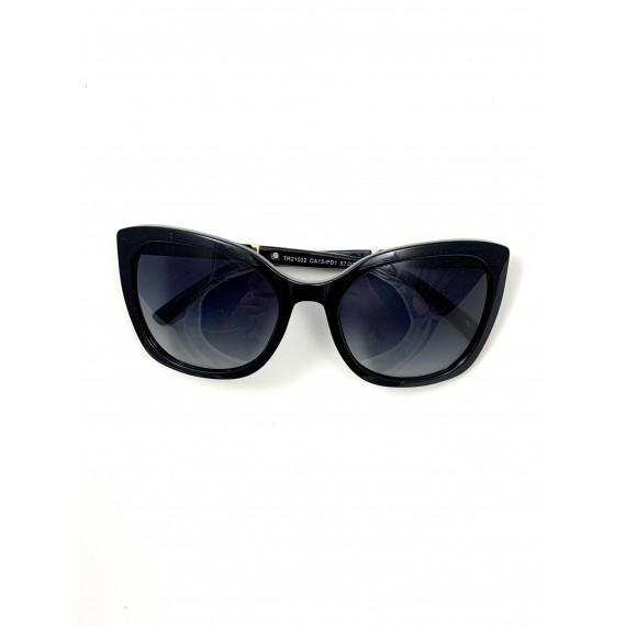 Óculos Escuro Armação Quadrada - Lente Preta Degradê Proteção Uv