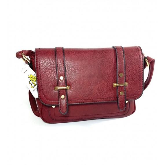 Bolsa Pequena Quadrada - Bordô