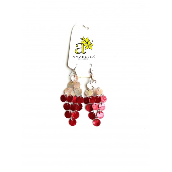 Brinco Confete - Vermelho