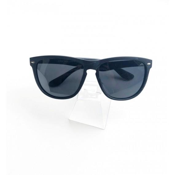 Óculos Escuro Armação Chumbo com Detalhes - Lente Preta Proteção UV