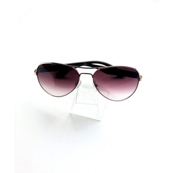 Óculos Escuro Aviador - Lente (Degradê) Marrom Proteção UV