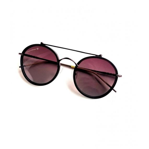 Óculos Escuro Armação Redonda -Lente Marrom (Degrade) Proteção UV
