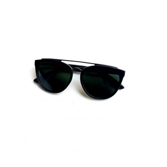 Óculos Escuro Armação Preta - Lente Preta Proteção UV